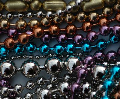 Metalen kettingen, kleur gecoat