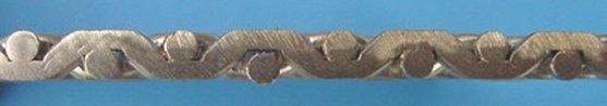Doorsnede: vlak gedrukt (zwaar) gaas - minimale opening