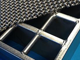 1 laags catalyst support mesh op een grid