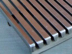 Detailvoorbeeld gelast v-wire gaas